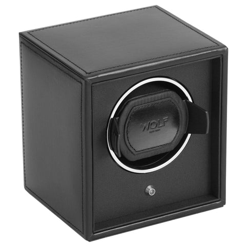 Cub Single Watch Winder - Module 1.8 Black - Wilson Street - Wolf 1834 - 3