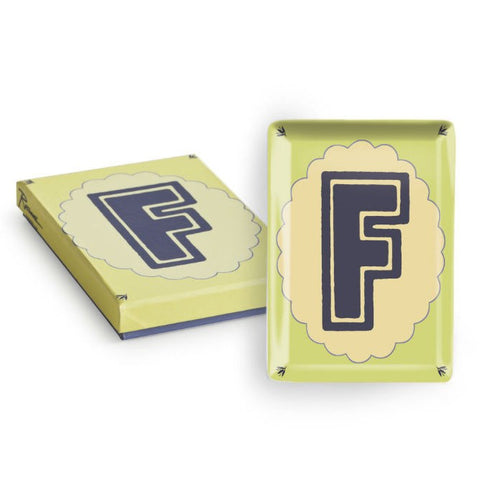 Vintage Character Tray - Letter F  - Wilson Street - Rosanna