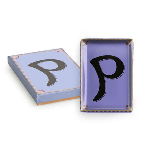 Vintage Character Tray - Letter P  - Wilson Street - Rosanna