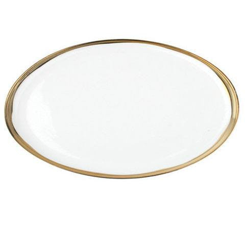Dauville Platters with Gold Rim
