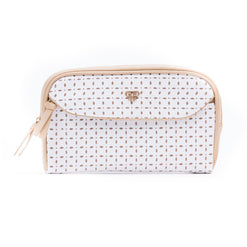 Clutch Makeup Case - White Dunes