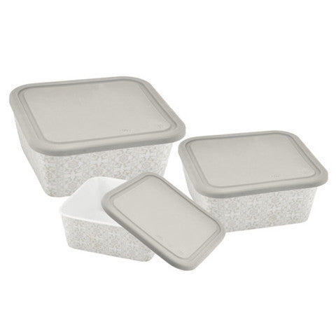 Danico Imperial Collection Square Nesting Food Container Set