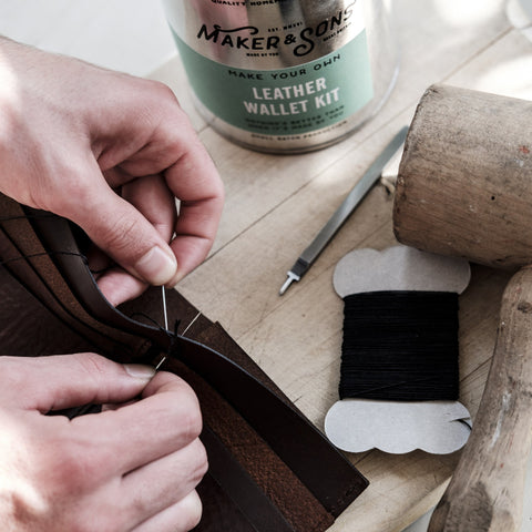 DIY Leather Wallet Kit  - Wilson Street - Men's Society - 1