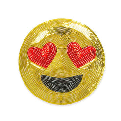 Emoji Heart Eyes Sequin Sticker Patches  - Wilson Street - iDecoz - 1
