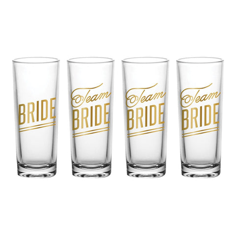Brides Drinking Team Shot Glasses