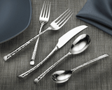 Olivia Mirror Hammered 5 PC Flatware Set - Argent Orfèvres  - Wilson Street - Hampton Forge - 2