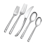 Olivia Mirror Hammered 5 PC Flatware Set - Argent Orfèvres  - Wilson Street - Hampton Forge - 1