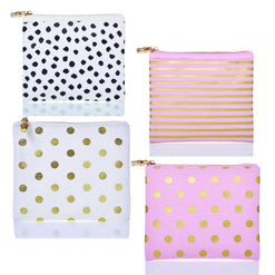 Flat Zip Printed Canvas Bags  - Wilson Street - Toss Designs - 1