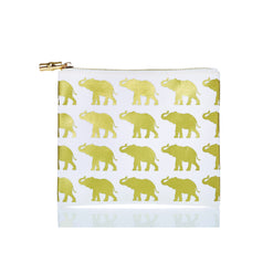 Flat Zip Animal Canvas Bag Safari Elephants / None - Wilson Street - Toss Designs - 1