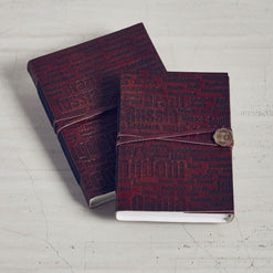 Bombay Diaries Leather Bound Journal  - Wilson Street - Mona B. - 1