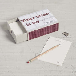 Your Wish, My Command - Matchbox Stationary  - Wilson Street - Mona B. - 1