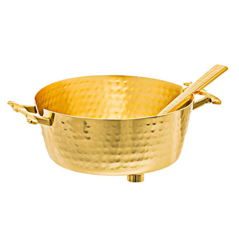 Twisted Container Dip Bowl with Spoon Gold - Wilson Street - Classic Touch - 2