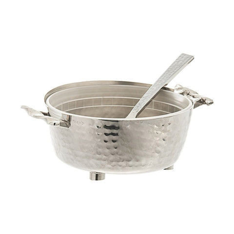 Twisted Container Dip Bowl with Spoon Silver - Wilson Street - Classic Touch - 4
