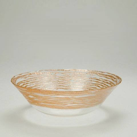 Magara Salad Bowl in Gold  - Wilson Street - Red Pomegranate