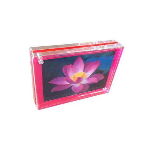 Neon Triple Magnet Frames 2 1/2 x 3 1/2 / Pink - Wilson Street - Canetti Design Group - 2
