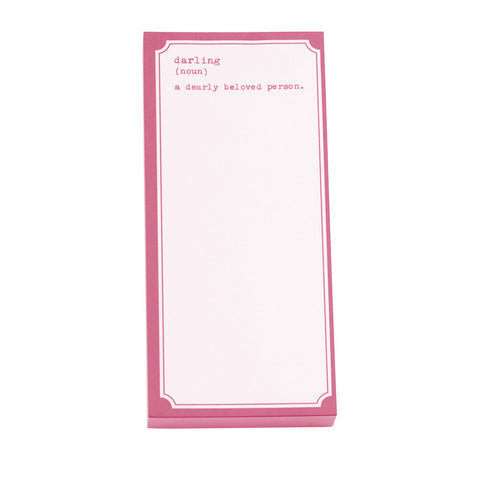 Darling Pink Notepad  - Wilson Street - Toss Designs