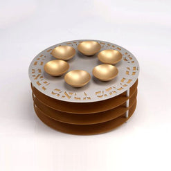 Seder Plate with Matzah Shelves and Bowls by Agayof  - Wilson Street - Agayof - 1