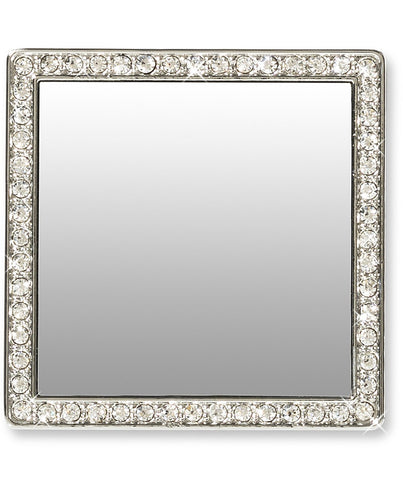 Selfie Square Phone Mirror with Crystals Silver - Wilson Street - idecoz - 5