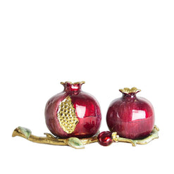 Pomegranate Salt & Pepper Set with Tray  - Wilson Street - Quest Collection
