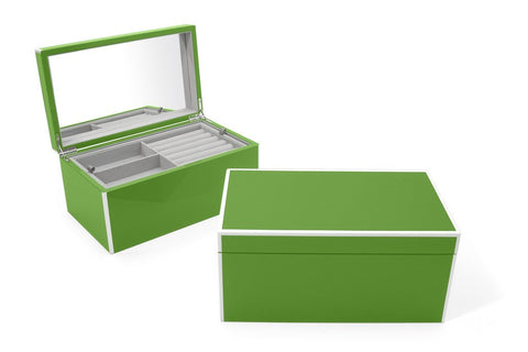 Elle Lacquer Jewelry Box Green - Wilson Street - Swing Design - 3