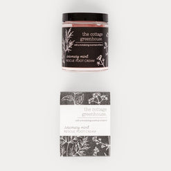 Rosemary Mint Rescue Foot Cream  - Wilson Street - the cottage greenhouse - 1