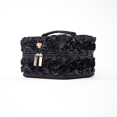 Tiara Vacationer Jewelry Case - Black French Rose  - Wilson Street - PurseN - 1