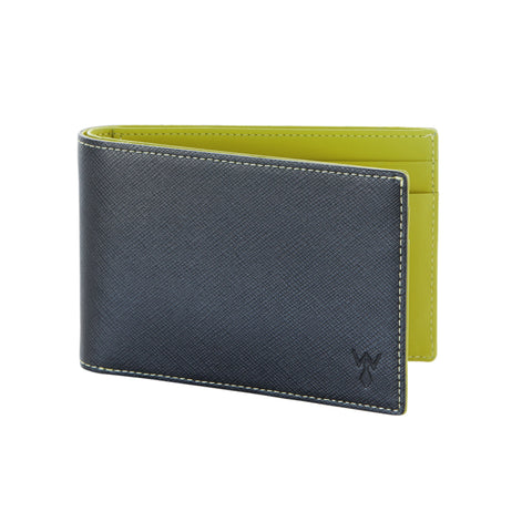 RFID Blocking Slim Leather Wallet by Würkin Stiffs Black / Green - Wilson Street - Wurkin Stiffs - 4