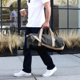 """Work Hard, Play Hard"" Duffel in Army Green  - Wilson Street - Owen & Fred - 2"