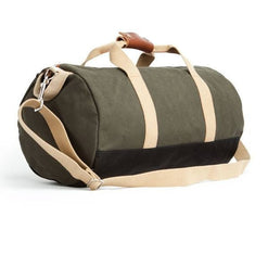 """Work Hard, Play Hard"" Duffel in Army Green  - Wilson Street - Owen & Fred - 1"