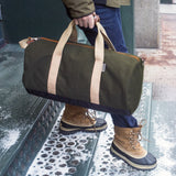"""Work Hard, Play Hard"" Duffel in Army Green  - Wilson Street - Owen & Fred - 8"