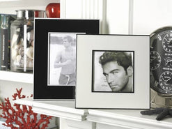 "Laquered Two Tone Ivory Photo Frames 4 1/2"" x 4 1/2""  - Wilson Street - Zodax"
