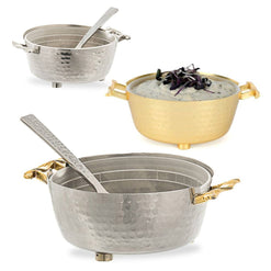 Twisted Container Dip Bowl with Spoon  - Wilson Street - Classic Touch - 1