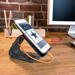 Stanley - A leather phone / tablet stand that bends  - Wilson Street - Distil Union - 1