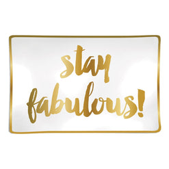 Stay Fabulous Trinket Tray  - Wilson Street - Slant Collection