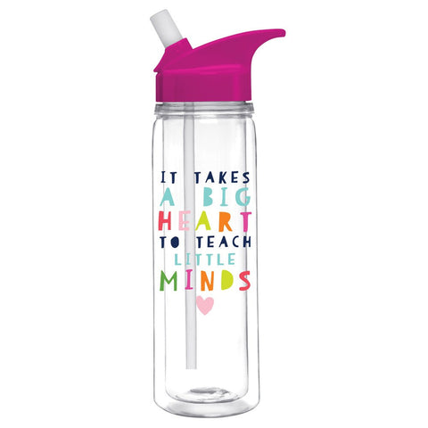 It Takes a Big Heart to Teach Little Minds Water Bottle  - Wilson Street - Slant Collection
