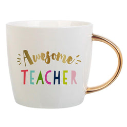 Awesome Teacher -  Coffee Mug with Gold Handle  - Wilson Street - Slant Collection