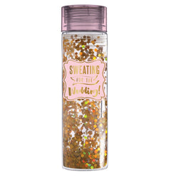 Sweating for the Wedding - Double Wall Acrylic Water Bottle with Glitter  - Wilson Street - Slant Collection