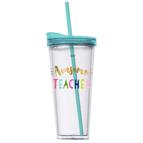 Awesome Teacher - Double Wall Tumbler w Hot/Cold Lid  - Wilson Street - Slant Collection