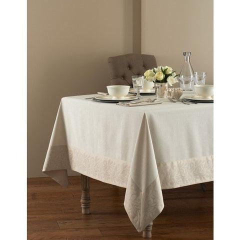 "Geneva Tablecloth - Washable - Coated for Easy Care Taupe / 70"" x 128"" - Wilson Street - Mode Living - 2"