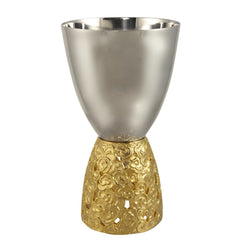 Clouds Gold Kiddish Cup  - Wilson Street - Quest Collection