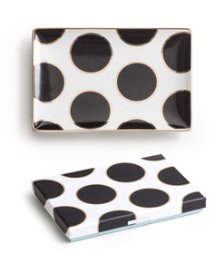 Ladies Choice Tray Dots - Black / Gold  - Wilson Street - Rosanna