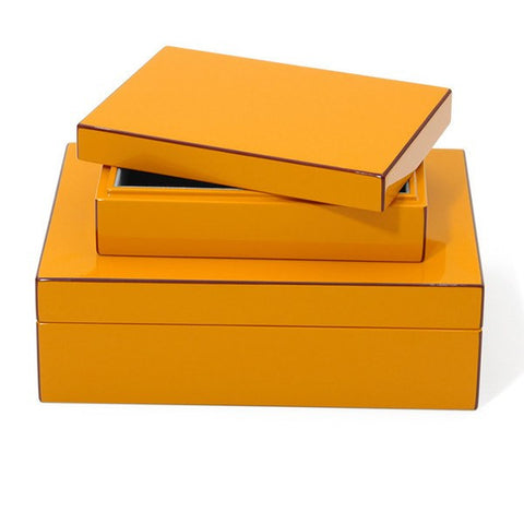 Elle Lacquer Storage Boxes Orange  - Wilson Street - Swing Design