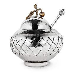 Cherry Branch Jam Pot w/Basket Weave  - Wilson Street - Mary Jurek Design
