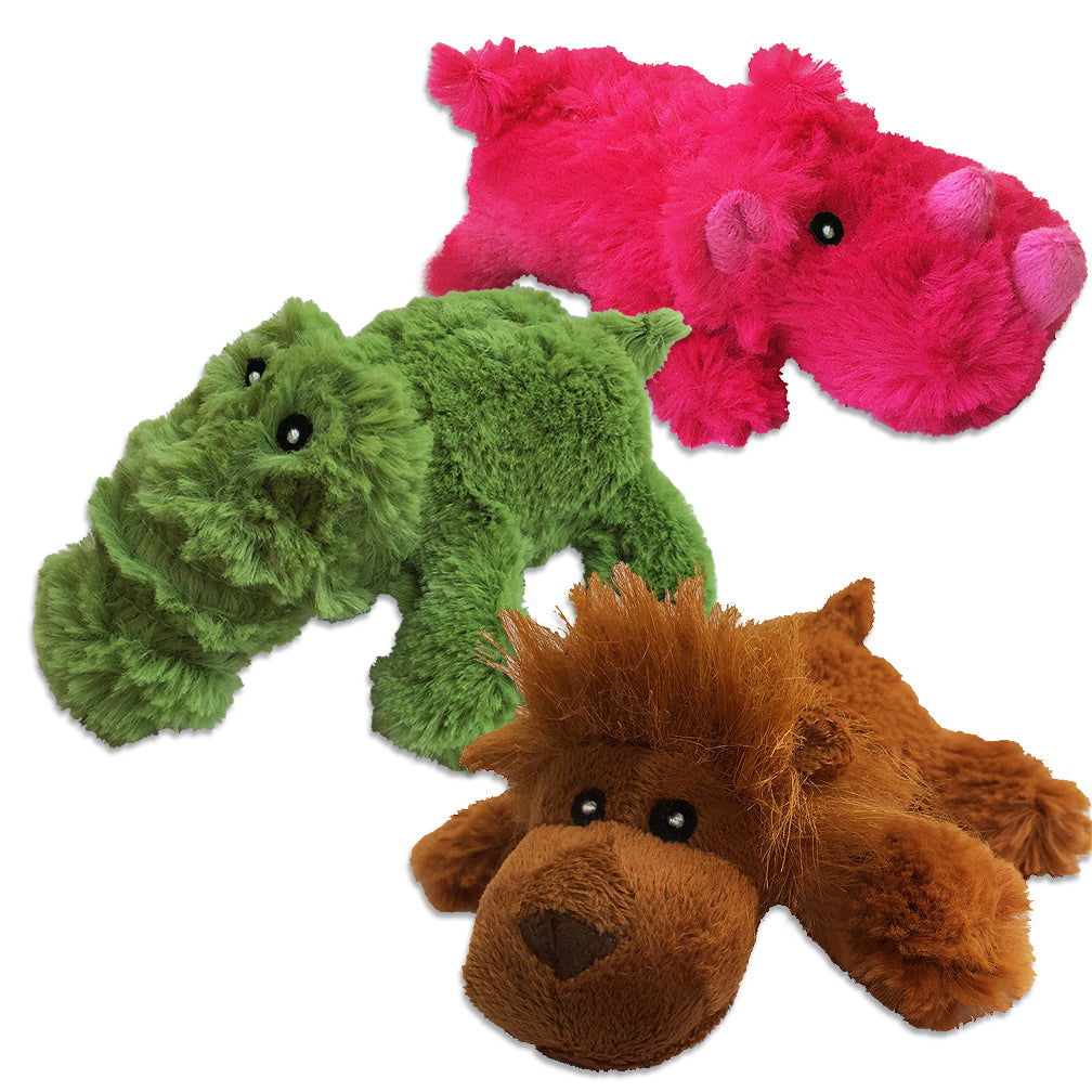 Rhino, Gator and Orangutan Small Dog Toy