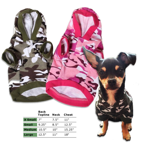 Light Weight Small Dog Camo Hoodie, Small Dog Mall