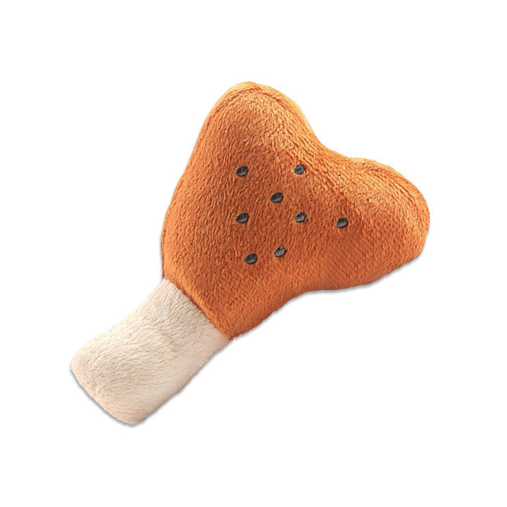 Plush Drumstick Small Dog Toy