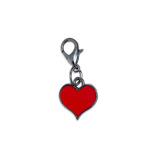 Petite Red Enamel Heart Dog Collar Charm
