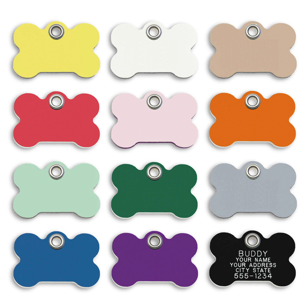Fun Plastic Bone Shape Small Dog ID Tag