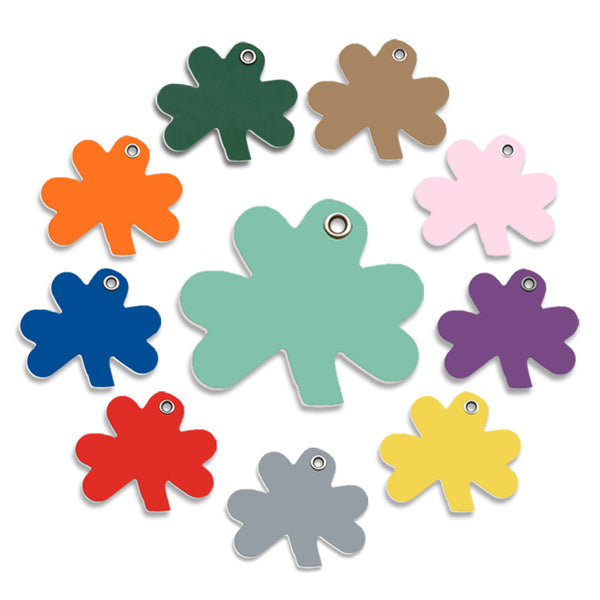 Plastic Shamrock Shape Small Dog ID Tag
