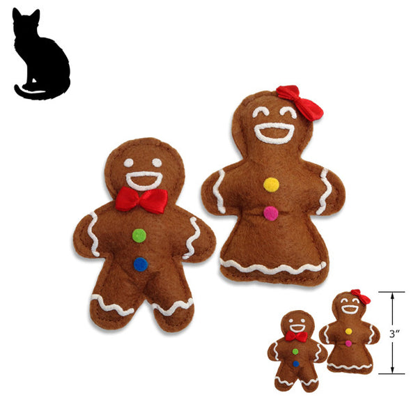 Holiday Catnip Ginger Boy or Girl Cookie Cat Toy